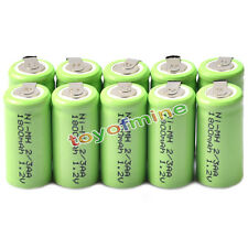 10x Ni-MH 1.2V 2/3AA 1800mAh rechargeable battery NI-MH Batteries For Phone Toy