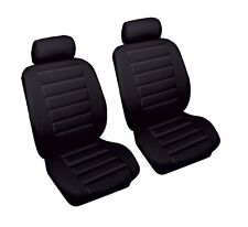 Leather Look Car Seat Covers Black MITSUB SHOGUN SWB 07 on Front Pair Airbag Rea