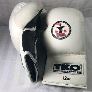 TKO Technical Knockout All Purpose Boxing Gloves 12 Oz Female White/Black IFBA