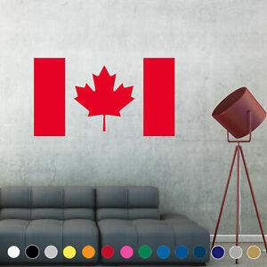 Canadian Flag Decal Sticker Canada Wall Art Living Room House Decor V1