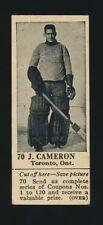1924-25 V31 Dominion Chocolate (Hockey) #70 J. CAMERON -Goalie (Canadian Team)