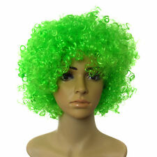 St Patricks Day Irish Green Curly Afro Party Full Head Wig Hancy Dress Accessory