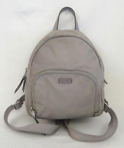 Kate Spade New York Gray Nylon 2 Pocket Backpack Purse