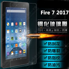 """9H HD Tempered Glass Film Screen Protector for 7"""" Amazon Fire 7 2017 (7 Gen) TR"""