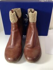 Caprice Viola Tan Leather Ankle Boots Size 5.5/38.5 - boxed