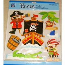 Pirate Wall Stickers Childrens Kids Girls Boys Bedroom Decals Stickarounds Baby