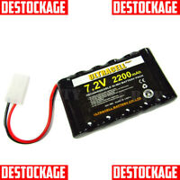PACK PILE BATTERIE 6 x AA 7.2V 2200mAh RECHARGEABLE NI-MH AVEC CONNECTEUR TAMIYA