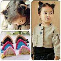 Kids Baby Girl Toddler Cat Ears Hair Clips Hairpins Hair Accessories Bobby Pin