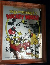 walt disney mickey mouse mirror sign *vgc*