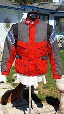 ALPINE STARS RACING Motorcycle Jacket Gray Red ITALY Sz 48 (U.S. 38)Men or Women
