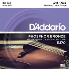 D'Addario EJ70 Mandolin Strings, Phosphor Bronze, Ball End, 11-38