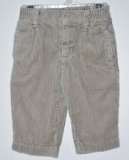 GYMBOREE Boys Size 6-12 Months Brown Corduroy Front Zipper Pants