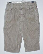 GYMBOREE Boys Size 6-12 Months Brown Corduroy Front Zipper Pants