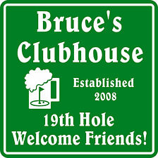New Personalized Custom Name Golf Golfing Golfer Welcome Friend Gift Bar Sign #6
