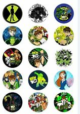 Ben 10 BADGE Metal Buttons Party Favour Lolly Bag Loot Birthday Card