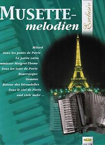 Akkordeon Noten : MUSETTE Melodien leichte Mittelstufe - mittelschwer  (Walzer)