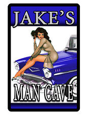 Personalized MAN CAVE Sign Printed with YOUR NAME..Custom Quality Signs..hotrod4