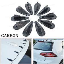 10x Carbon VORTEX GENERATOR FLEXIBLE EVO-STYLE ROOF SHARK FINS SPOILER WING KIT