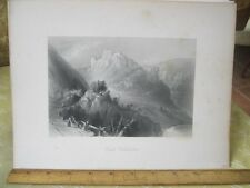 Vintage Print,CASTLE WELDENSTEIN,Engraving,WH.Bartlett,Turkey+Greace