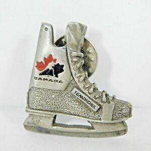 Team Canada Hockey Skate Logo Pin Teamwork