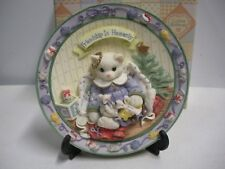 Enesco Calico Kittens - Friendship is Heavenly - Limited Edition Plate