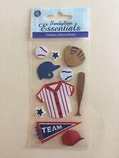 Sandylion Essentials Scrapbooking Stickers Baseball Glove Jersey Bad Helmet Team