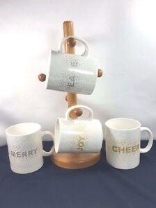 "Mikasa Cheers Confetti ""MERRY"" Christmas Coffee Mug Buy one or more"