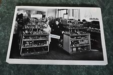 """1940'S Chevrolet Parts Room Display 12 By 18"""" Black & White Picture"""