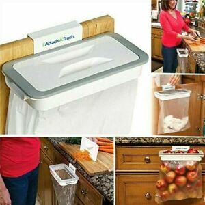 Attach a trash Kitchen Portable Garbage Holder Hanger Waste Bag Cabinet Rubbish