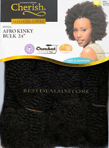 """Cherish Afro Kinky Bulk Afro Twist Hair Extensions 24"""" - New & Improved"""