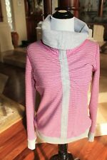 LuluLemon In A Cinch Long Sleeve Tee Size 4  XS reversible Gray pink stripe NWT