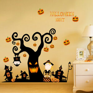 4 Kinds Of Halloween Wall Stickers Vinyl Art Removable Decal Dinner Room Window