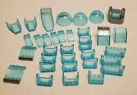 LEGO Lot Transparent Windshield Windscreen Dome Spaceship Blue