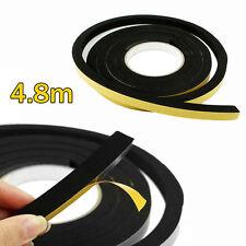 SUPER THICK Window Seal Black foam tape weather Strip 4.8 Metres x 12mm sq