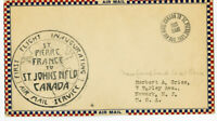 Newfoundland Stamps Inauguration Flight St Pierre Cover Signed