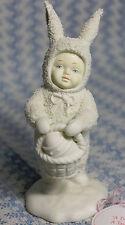 A Tisket, Tasket  Basket Dept 56 SnowBunnies Easter Baby in Bunny Costume #26026