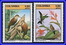 COLOMBIA 1985 TROPICAL BIRDS SC#C750-51 MNH HUMMINGBIRDS