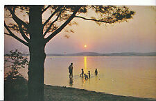 America Postcard - Sunset Over The Silver Lake Dunes - Michigan  DP730