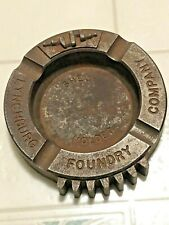Lynchburg Foundry vintage cast iron ash tray reads Shell Molded in center with