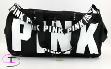 NWT Victorias Secret PINK Gym Duffle Bag Black and White TB17