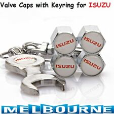 For ISUZU Logo Emblem Wheel Tyre Tire Valve Air Dust Cover Screw Caps Car Gift