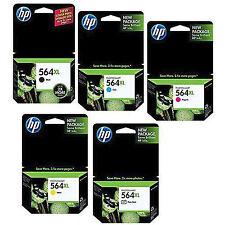 5 Color Set Genuine HP 564 XL B,C,M,Y,Pbk Ink Photosmart D5463 D5468 D7500 D7560