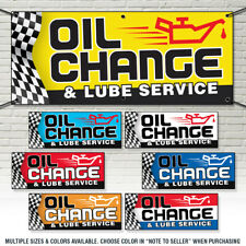 OIL CHANGE and LUBE Services Business Advertising Vinyl Banner Sign