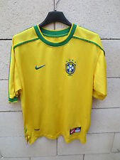 VINTAGE Maillot BRESIL Nike RONALDO n°9 camiseta jersey shirt XS S BRASIL jersey
