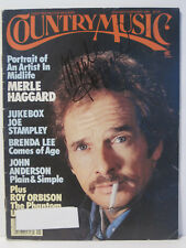Country Music Magazine signed by Merle Haggard