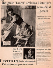 1930 A AD LISTERINE ANTISEPTIC MOTHER KITCHEN  BABY HENRY ART
