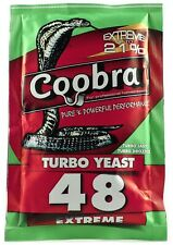 COOBRA 48 Pure Turbo Yeast High Alcohol Home Brew Distilling FREE FAST