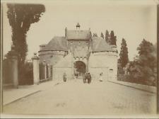 Belgique, Gand, Porte, ca.1905, vintage citrate print Vintage citrate print