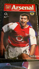Arsenal V Oxford United-Jan 4 2003-Official Programme- FA Cup inserted poster