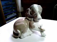 Vintage Lladro Puppy Dog With Snail